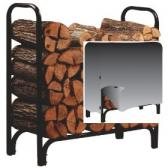 Panacea 4-Foot Deluxe Firewood Log Rack with Cover